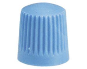 Kunststoff-Ventilkappen, blau, 100 St/Pack