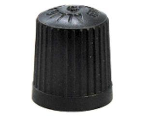 Kunststoff-Ventilkappen, schwarz, 100 St/Pack