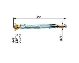 LKW-flexible Ventilverlängerung 250 mm, Metall ummantelt