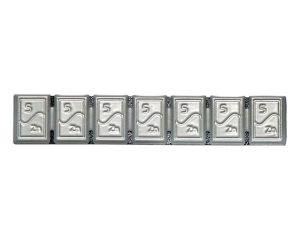 Kleberiegel Zink 35g,Typ365-2n,flach